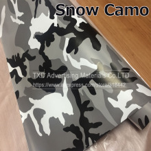 10/20/30/40/50/60x152CM/Lot Black/White Camo Vinyl Film Snow Camouflage Vinyl Car Wrap Air Bubble Free Snow Camo Wraps(China)