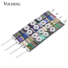Custom Design 18mm Snap Button Bracelet Jewelry Original Rope Chain Snap Button Bracelet (Vb-071) Vocheng Free Shipping(China)