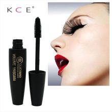 3D Fiber Lashes New Black Eye Mascara Long Curling Mascara Waterproof Makeup Eyelash Silicone Brush Curving Lengthening Mascara