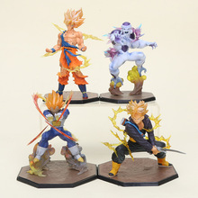 14-15cm Dragon Ball Z figure Super Saiyan Goku Son Gokou Vegeta Trunks Battle Version Boxed Freeza Freezer PVC Action Figure toy(China)