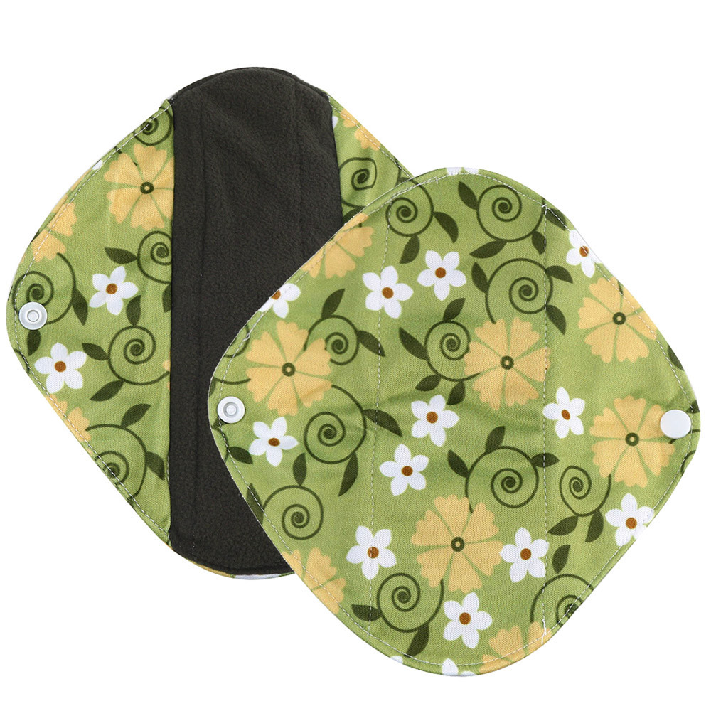 1pc New Arrival Women's Reusable Bamboo Cloth Washable Menstrual Pad Mama Sanitary Towel Pad Pretty Feminine Hygiene Product 18