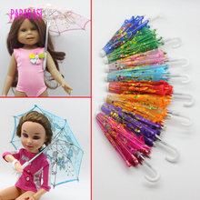 1PCS Lace Outdoor Umbrella For American Girl Doll,My Life Doll,Our Generation Other 18 inch Dolls house furniture Accessories(China)
