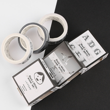 1 Roll DIY 7M Washi Paper Single-Side Tape Adhesive Sticky Decorative Scrapbooking Sticker Masking Label Journaling Notebook