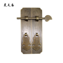 [Haotian vegetarian] antique copper handle wardrobe cupboard furniture bookcases handle HTC-278 Lotus trumpet section(China)