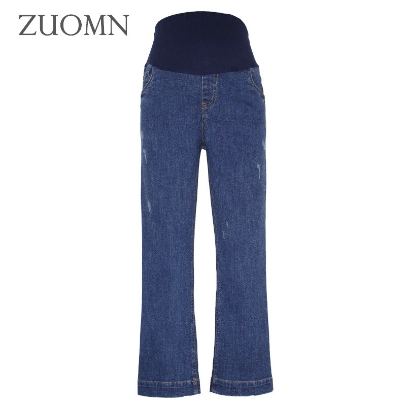 Pregnant Women Wide Leg Jeans Pregnancy Jean Belly Pants Maternity Loose Overalls Maternity Clothing Straight Pants Y796<br>