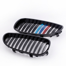 Car Style Front Radiator Racing Grills Gloss Black M-color Front Kidney Grille for BMW E60 E61 5 Series Sedan 2004-2010 for Cars