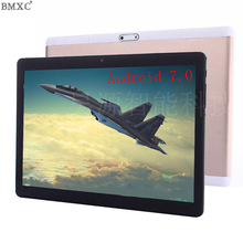 New Brand 10 inch Tablet Android 7.0 Tablet PC 4G 10 Core phone call Tablets 1920*1200 Screen WIFI GPS Metal kids tablet 10(China)