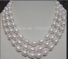 Jewelry Hot selling 100% Real 8-9MM White AAA+ South Sea Pearl Necklace Beads Making Natural Stone 60inch