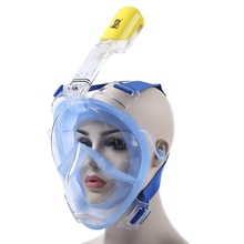 180 Full Face Diving Mask Underwater Swimming Anti Fog Detachable Dry Snorkeling Mask Set Women Men Diving Equipment 2017 Hot(China)
