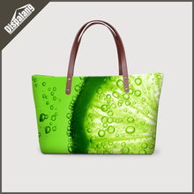 Dispalang novelty style promotion women handbags large capacity shopping bags for girls fruit printed ladies totes shoulder bags