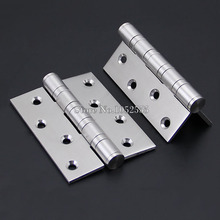 Brand New 1Pair=2PCS DOOR HINGES BALL BEARING Butt Internal Stainless steel finish 4Inch*3Inch*3.5mm K150(China)