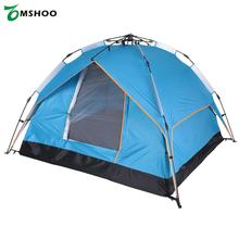 3 Persons Automatic Tent 200 * 200 * 140cm Water-resistant Two-layer Double Door Tent Leisure Tent for Camping Hiking Traveling(China)