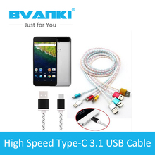 [Bvanki Type-C]100Pcs/lot Buy China Direct Data Sync Type 2.0 Cable Jelly Round Fashion Color Typec Cable For phone Mobile