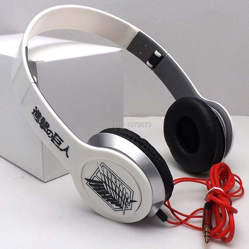 2017 Headphones, Attack On Titan Wings of Liberty Folding Stereo Sound Anime Headphones Headset For Iphone Samsung MP3 Computer <br><br>Aliexpress