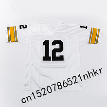 Retro star #12 Terry Bradshaw Embroidered Name&Number Throwback Football Jersey(China)
