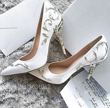 follwwith 2018 Ornate Wedding Shoes Pointed Toe High Heels. US  78.00    Pair Free Shipping 53972e4ae729