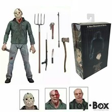 Friday The 13TH Part3 3D Freddy Vs Jason Cartoon Toy PVC Action Figure Model Doll Gift