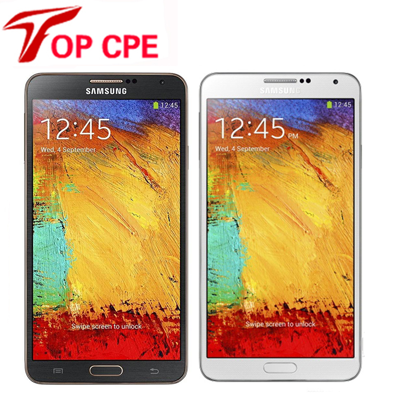 Unlocked Original Samsung Galaxy Note 3 N900 N9005 Mobile phone Quad Core RAM 3GB 13MP WiFi GPS Refurbished 16GB/32GB Phone
