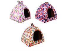 Dog Cat House High Quality Super Soft Comfortable Rabbit Bed Cat Dog House Doggy Warm Cushion Basket for Puppy Dog Kennel Home(China)