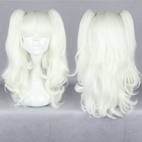shun HOT sell Free &gt;&gt;&gt;New Gothic Lolita Wave Long Cosplay Wig White Two PonytailsAA<br><br>Aliexpress