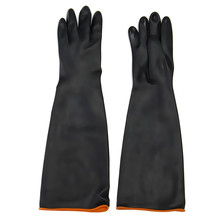 NEW Safurance Latex Industrial Rubber Gloves Acid and Alkali Resistant Anti-corrosion Black Workplace Safety Protective Glove