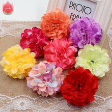 10Pcs 8cm Silk High Quality Peony Artificial Flowers For Wedding Party Decoration Corsage Craft Flowers Shoot Props Aches Floral