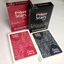 2 Sets/Lot Texas Holdem Plastic playing card game poker cards Waterproof and dull polish poker star Board games