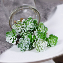 Mini Succulents DIY Accessories Artificial Flowers Wedding Decor Home Christmas Decoration Craft(China)