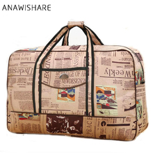 ANAWISHARE Men Travel Bags Large Capacity Women Luggage Travel Duffle Bags Nylon Travel Handbags Big Bags Of Trip Waterproof(China)