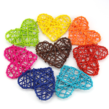 20PCS High Quality 10CM 10 Colors Heart Sepak Takraw For Christmas Birthday Party & Home Wedding Party Decoration Rattan Ball