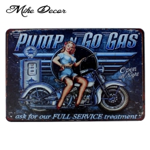 [ Mike86 ] PUMP GO GAS PIN UP Metal Poster Room Art Painting Antique Bar Club Home Hall Decor 20X30 CM AA-1023(China)