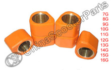 18x14 10G 11G 12G 13G 14G 15G High Performance Variator Slider Rollers For GY6 125CC 150CC Scooter Honda atv part(China)