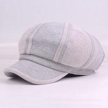Nova Gatsby Jornaleiro Chapéu Dos Homens e das Mulheres Costura Clássico  Old Fashion Tweed Plano Cap a2f47c8d6c6
