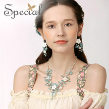Special New Fashion Natural Pearls Necklaces & Pendants Flower Romantic Maxi Necklace Gifts for Women Fine Jewelry XL150323(China)