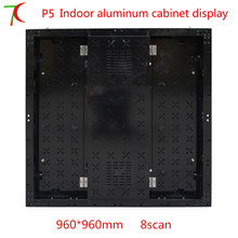 Factory direct sales 8scan 960*960mm P5 HD SMD full color aluminium equipment cabinet display ,40000dots/m2(China)