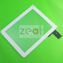 "5pcs/lot 9.7"" Touch Replacement Tablet Panel Touch Screen Digitizer Glass QSD E-C97011-04  Digma IDS D10 3G White Color"