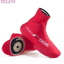 TELEYI Men women Red Cycling Bike Shoes Covers Overshoes M L XL Racing Riding Bicycle Ciclismo Breathable MTB Road Zippered
