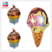 Birthday Party decoration chocolate Cake Foil Balloons Air Balloon happy birthday party decorations kids Baby Shower supplies(China)