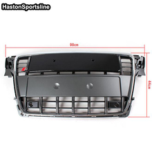 A4 B8 Chrome Frame Grey Front Bumper Middle Grill Grille For Audi A4 S4 RS4 S-Line 2009 2010 2011 2012(China)