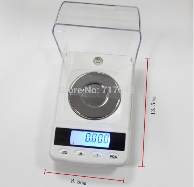 20pcs BY DHL / Fedex  50g 0.001g Digital Jewelry Diamond Gem Carat Scale Electronic Laboratory Weighing Balance High Precision<br><br>Aliexpress