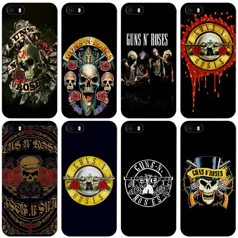 guns n roses Black Plastic Case Cover Shell for iPhone Apple 4 4s 5 5s SE 5c 6 6s 7 Plus(China (Mainland))