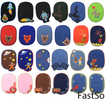 FastSo 1 Pcs Embroidery Sew on Applique Brand Patch Kids Child Jeans Patchwork Craft Sewing Repair Embroidered BT218 Wholesale