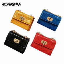 JCYOKARA Kids Snake Messenger Bag JC KIDS Girl Fashion PU Snake Bag With 6 Colors Children Accessories Snake Coin Purse For Girl