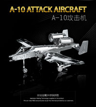A-10 ATTACK AIRCRAFT Puzzle 3D Metal Model Modern Military Weapons Creative Collection Assembly HKNANYUAN NEW 2sheets(China)