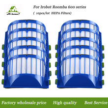Aihome 10pcs/lot AeroVac HEPA Filter for iRobot Roomba 600 Series 610 620 625 630 650 660 Vacuum Cleaner Accessories
