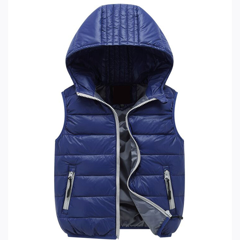 4-12T Warm Hoodies Baby Down Vests Children Waistcoats Girls Boys Outerwear Coats Baby Vest Kids Jackets Winter Kids Clothing<br><br>Aliexpress