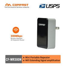 COMFAST 300Mbps Roteador Wireless N Wifi Repeater CF-WR300N wifi access point AP Router Range Expander Signal Booster USPS free(China)