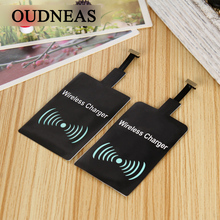 OUDNEAS Universal Qi Wireless Charger Receiver Adapter Receptor Receiver Pad Coil Android Phone Micro USB mobile Phone Charger(China)