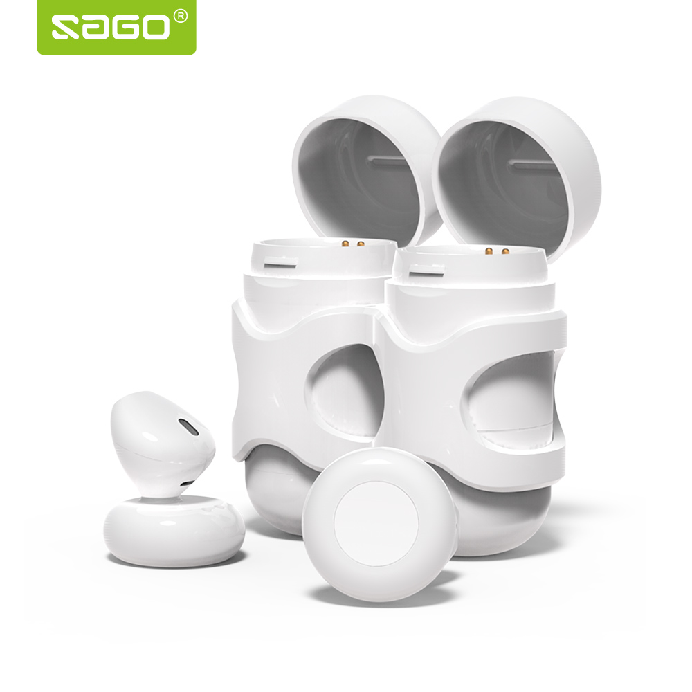 Sago x11 Fashion sport earbuds in-Eardetachable mini earphone wireless stereo earpieces with Mic/charging box for iphone 8 <br>