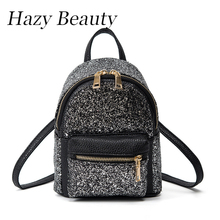 Hazy beauty New sequined women fashion backpack very popular bling bling jewelry lady hand bags lovey hot girls school bag DH622